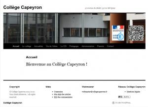 Le site du Collège Capeyron
