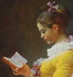 Fragonard, La liseuse - détail