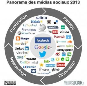 panorama medias sociaux 2013