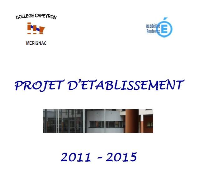 Projet d'établissement 2011-2015