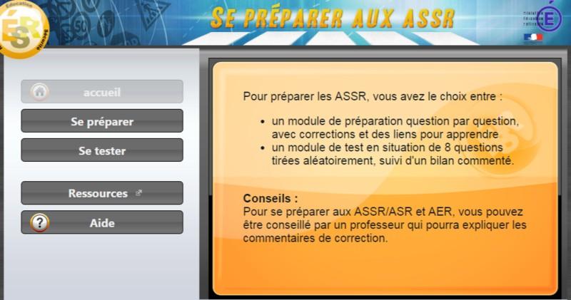 Se preparer aux ASSR