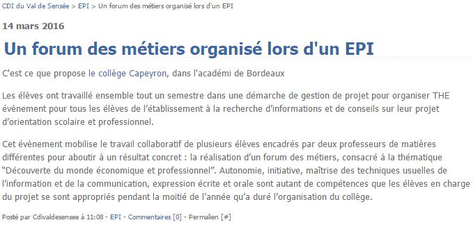 Blog du CDI du collège Val de la Sensée, à Arleux.